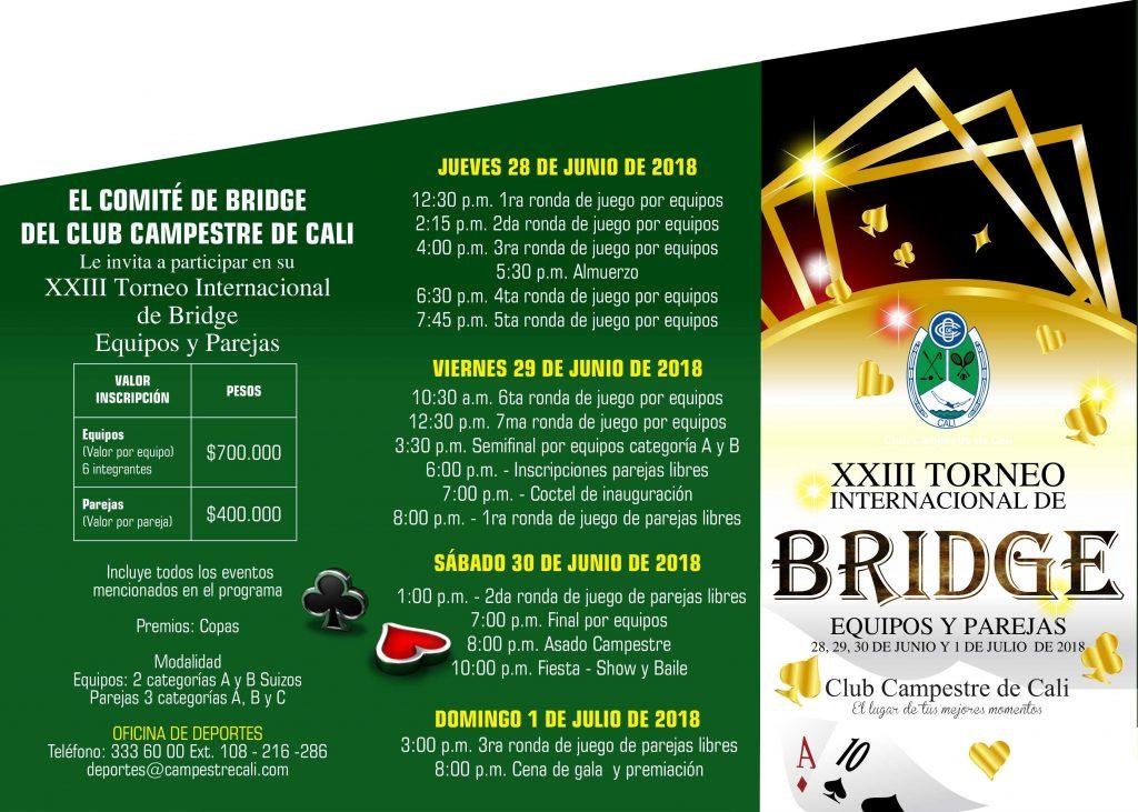 Club Campestre Cali Eventos Torneo Internacional De Bridge