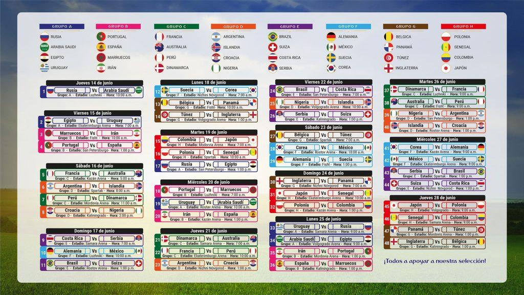 Mundial Rusia 2020 Calendario.Club Campestre Cali Noticias Programacion Mundial